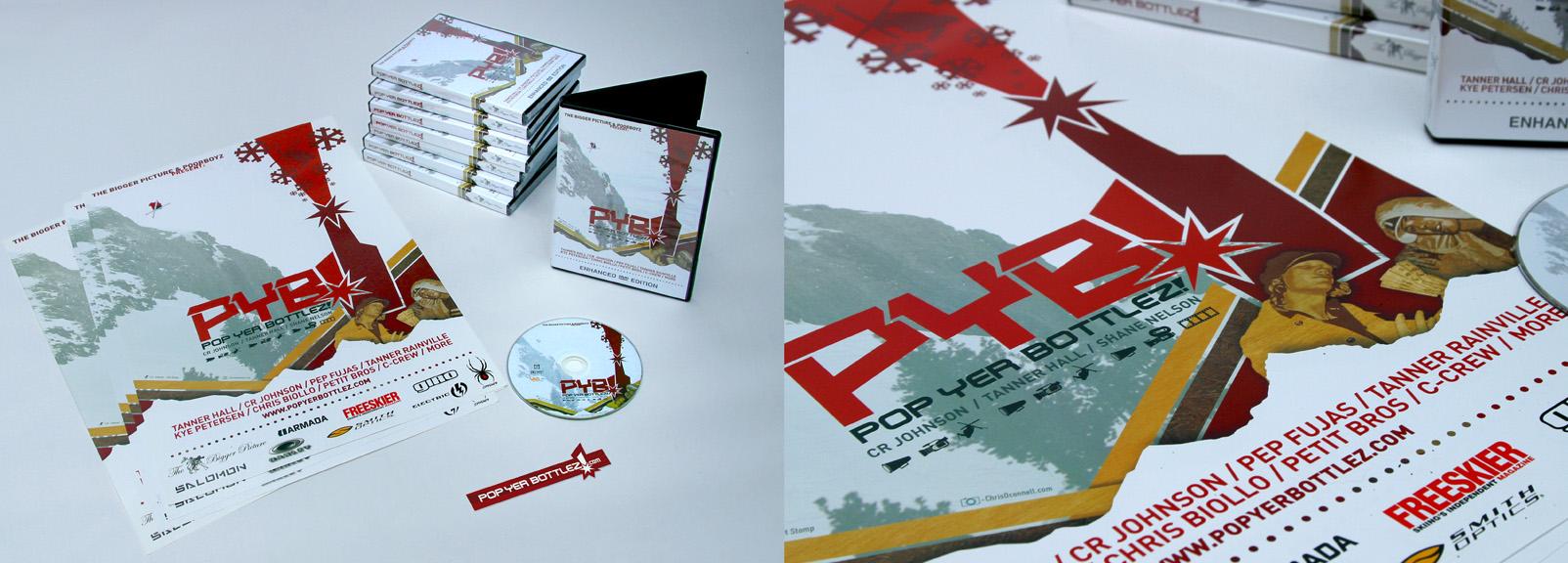 Pop Yer Bottlez! - Feature Ski Film - Dir. Shane Nelson - Packaging and marketing material design - Shane Nelson
