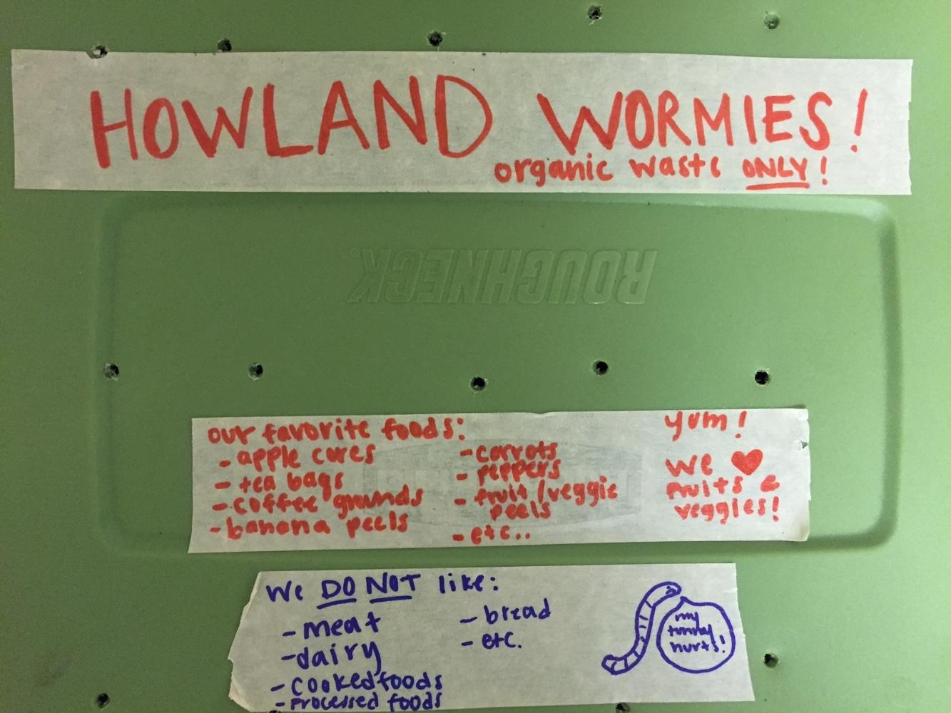 Worm bin at Howland House via Kerra Whitmill