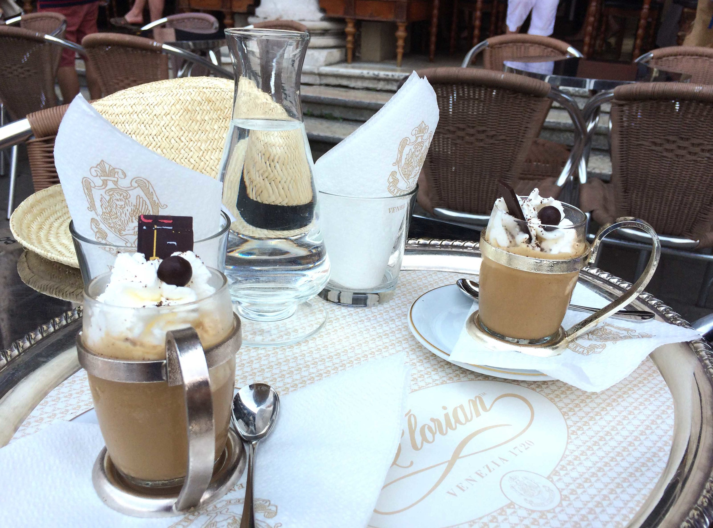 Al fresco at the famed Cafe Florian.