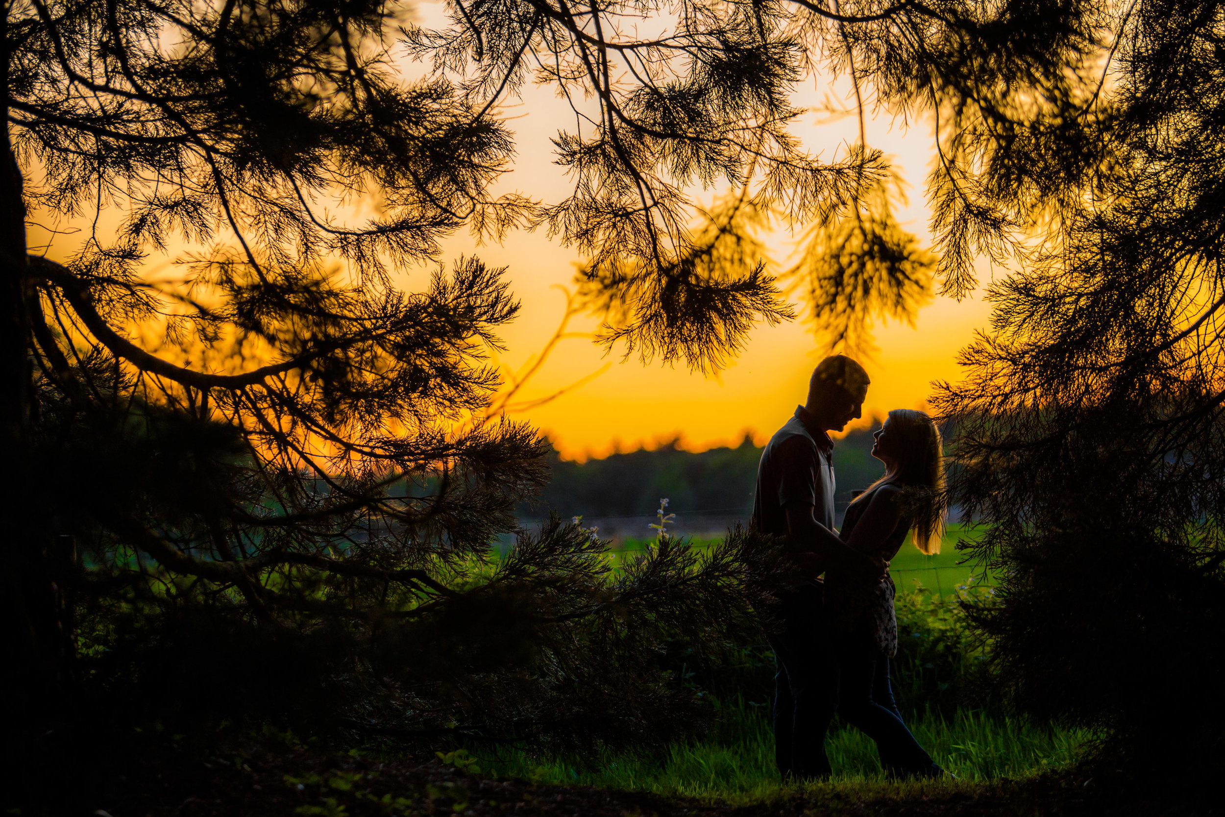 Adam & Michelle - This lovely couple had their pre-wedding shoot at their wedding venue Highfield Park where they fulfilled their dream of a shoot at sunset.