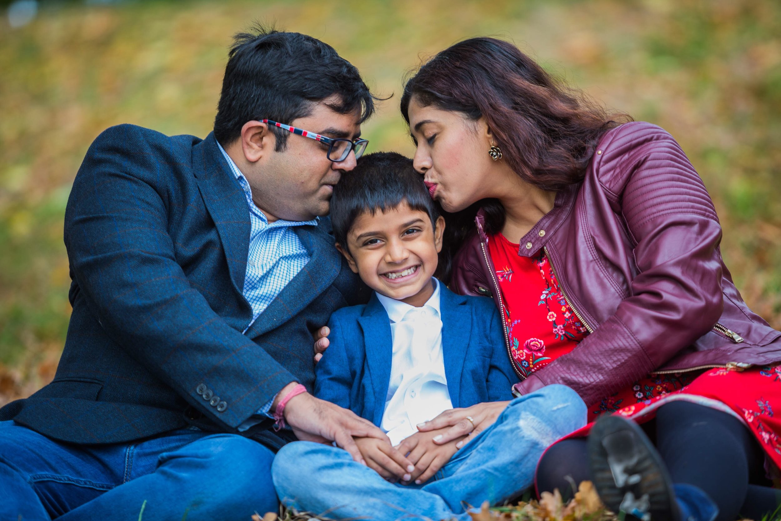 The Bhattacharjee's - Family shoots can take place anywhere but can especially be fun outdoors.