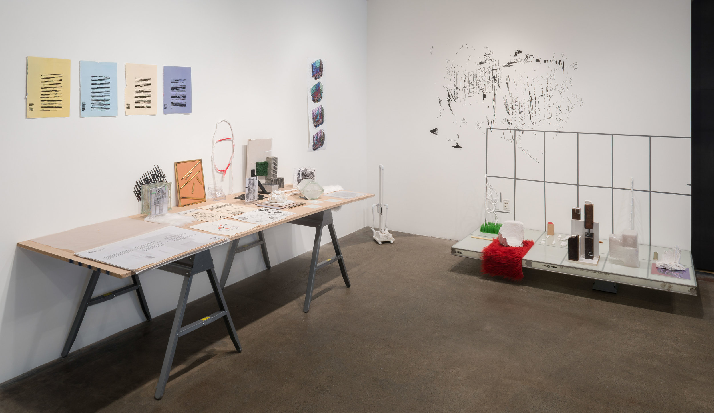 "install view of ""caché"", gallery 4culture, photo by Joe Freeman"