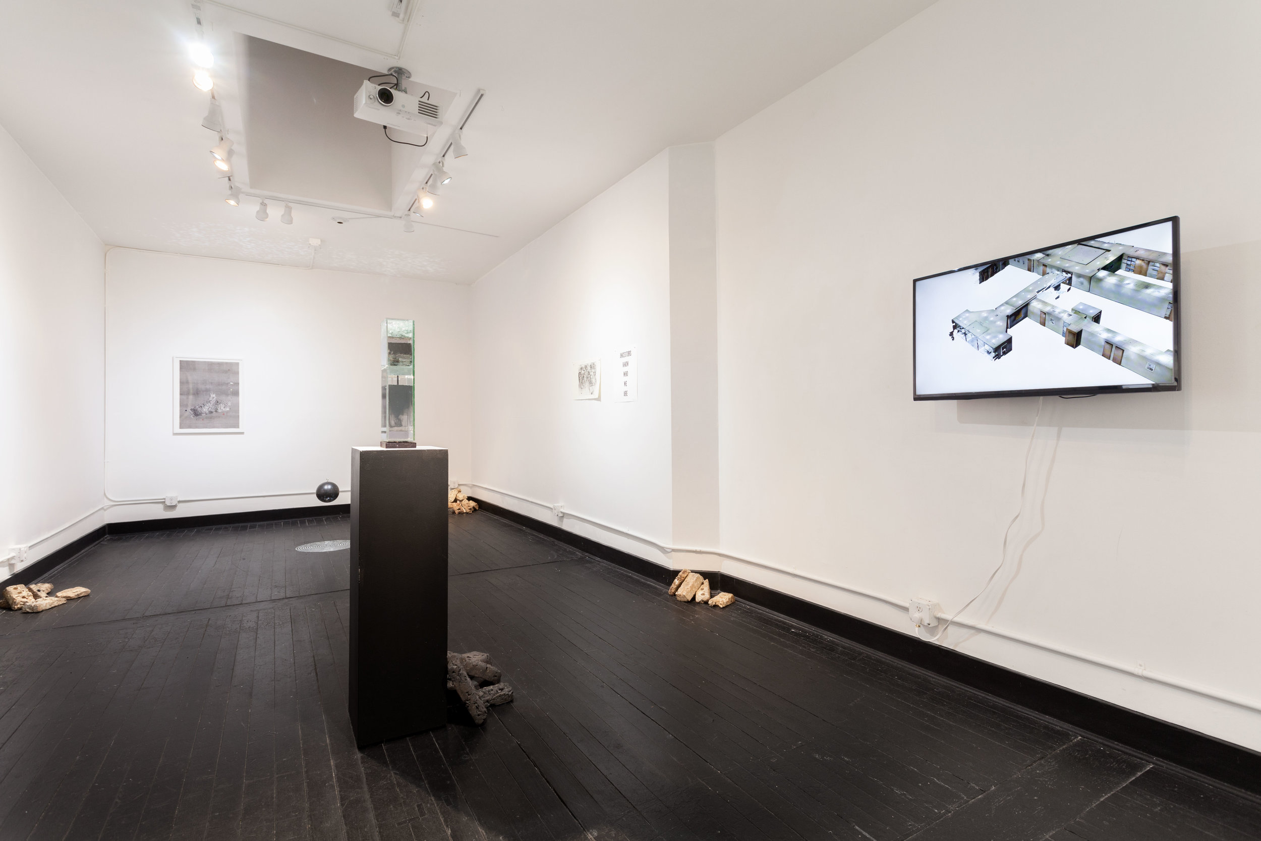"Installation view of ""echo, echo,"" the Alice Gallery, February, 2017"