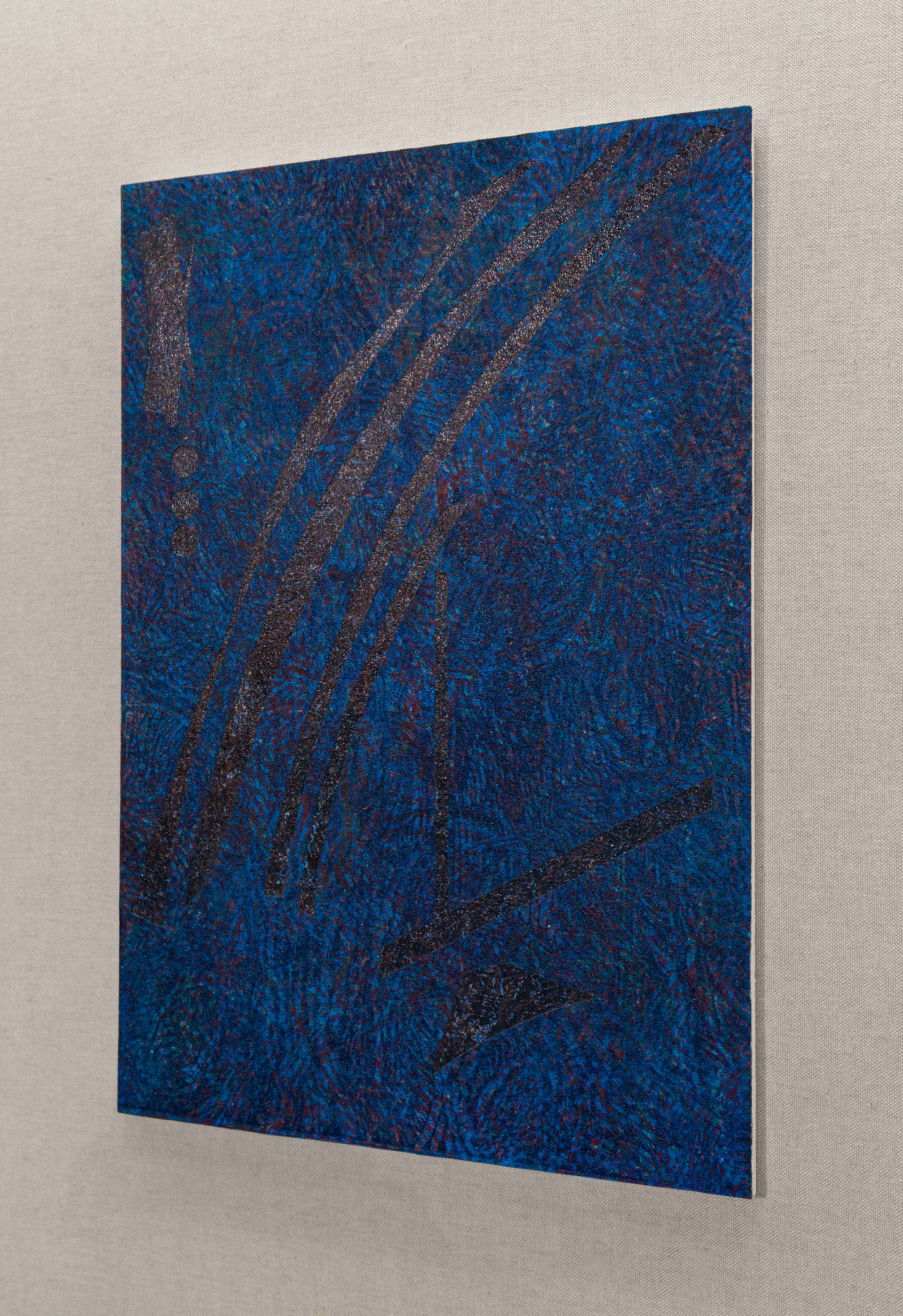 Field of Irisarri (Variation 1), Woodblock print & MDF board, Shoreline Community College, 2017