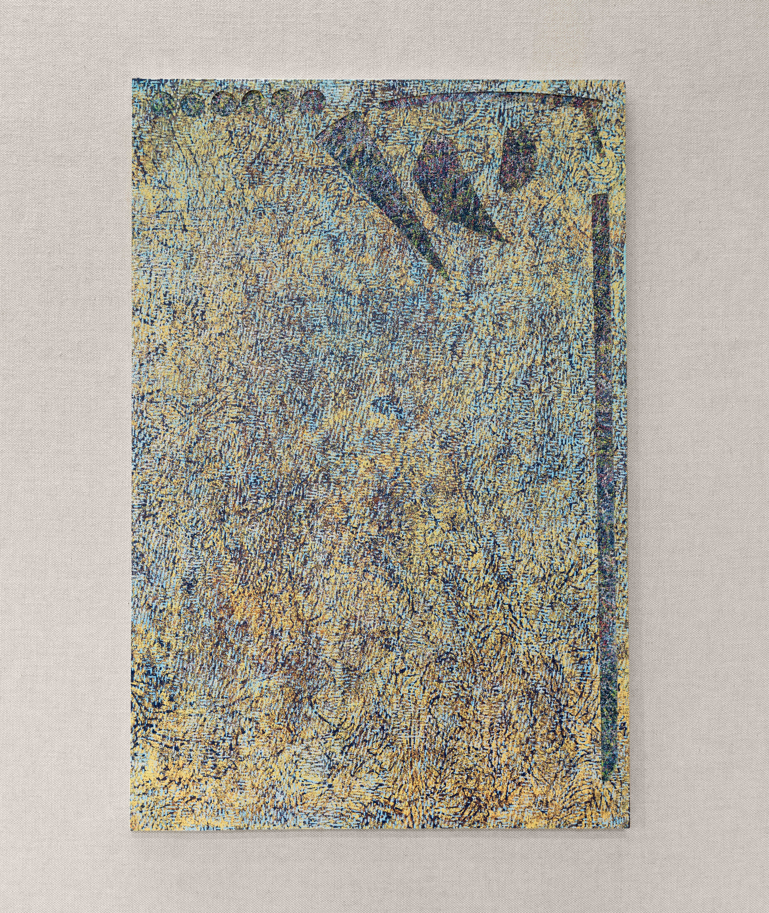 Field of Irisarri (Variation 3), Woodblock print & MDF board, Shoreline Community College, 2017