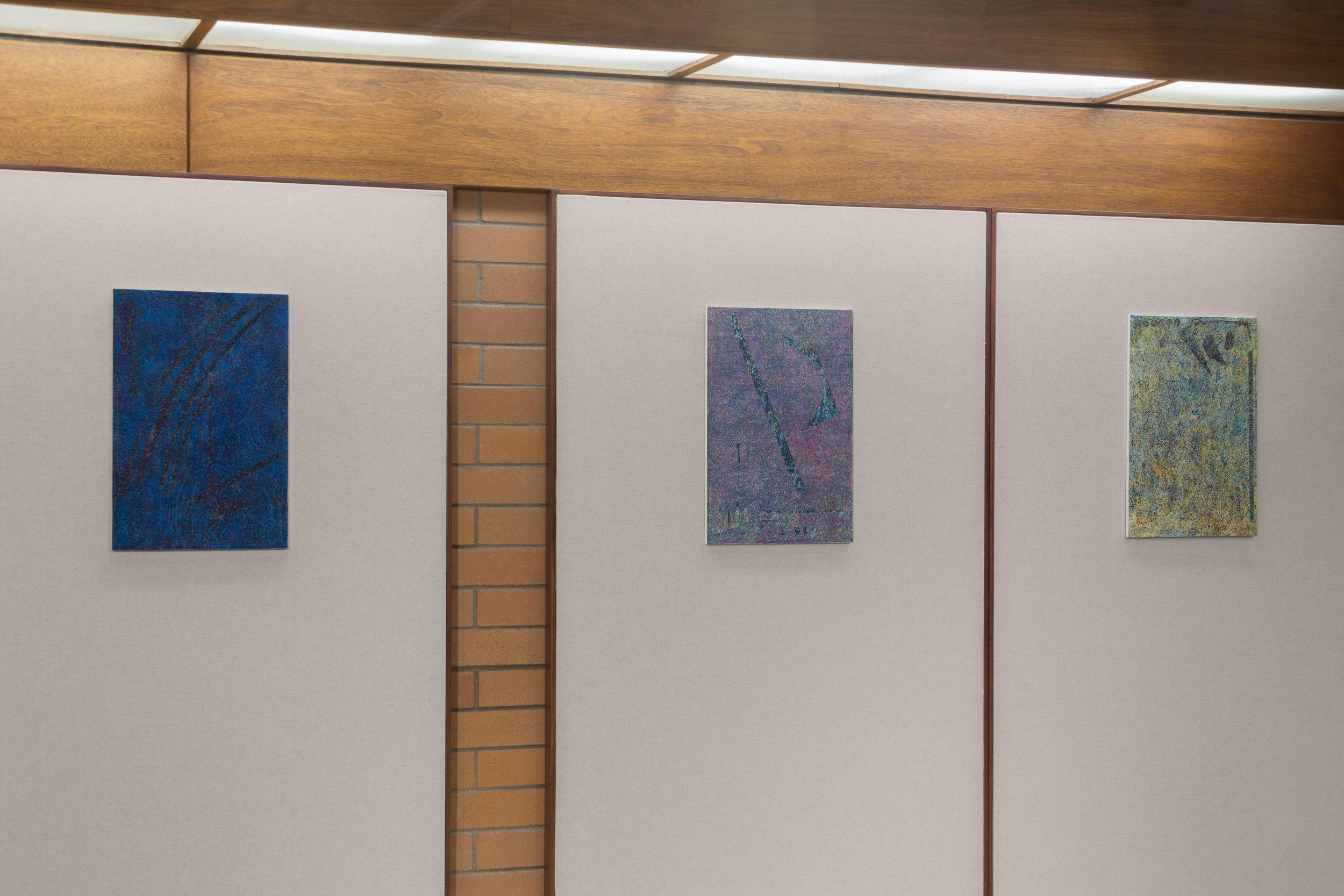 Field of Irisarri (Variation 1-3), Woodblock prints & MDF Board, Shoreline Community College, 2017