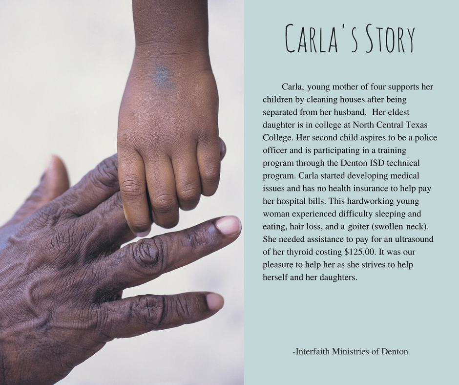 Did you know: - Texas has the highest uninsured rate in the country and doubles the national average?Like Carla, we try to help those who are less fortunate by providing the funds to assist with medical needs. Please take the time to read Carla's story.
