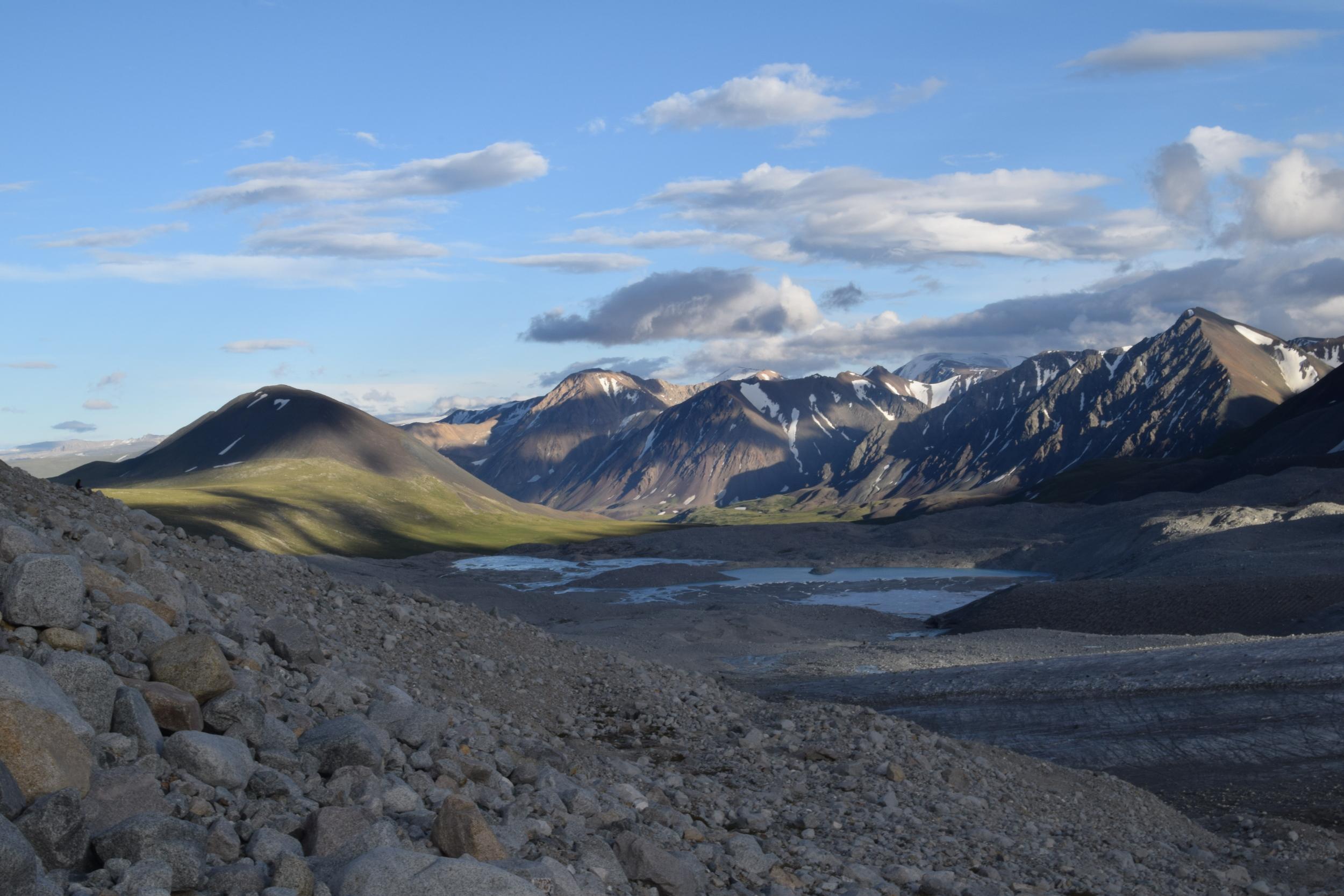 View from Potanin Glacier.