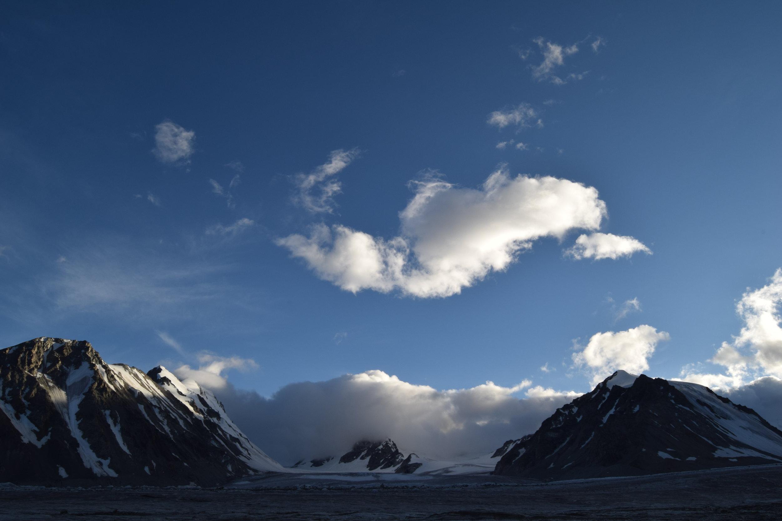 Potanin Glacier in Mongolia.