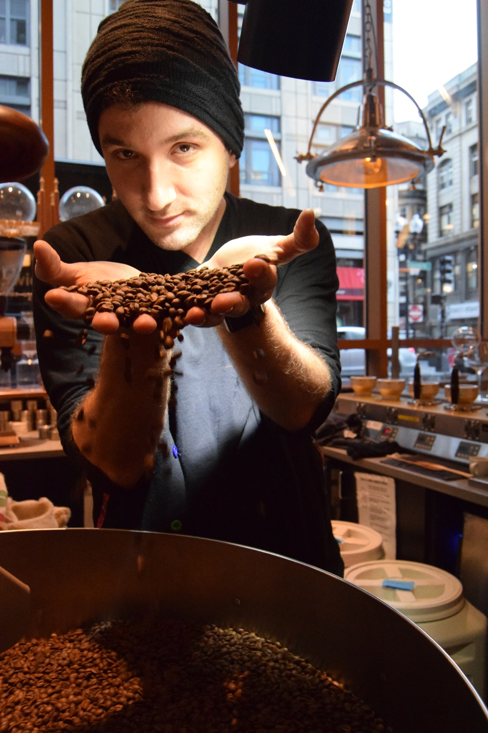 Anil Mezini, owner and founder of Jaho Coffee.