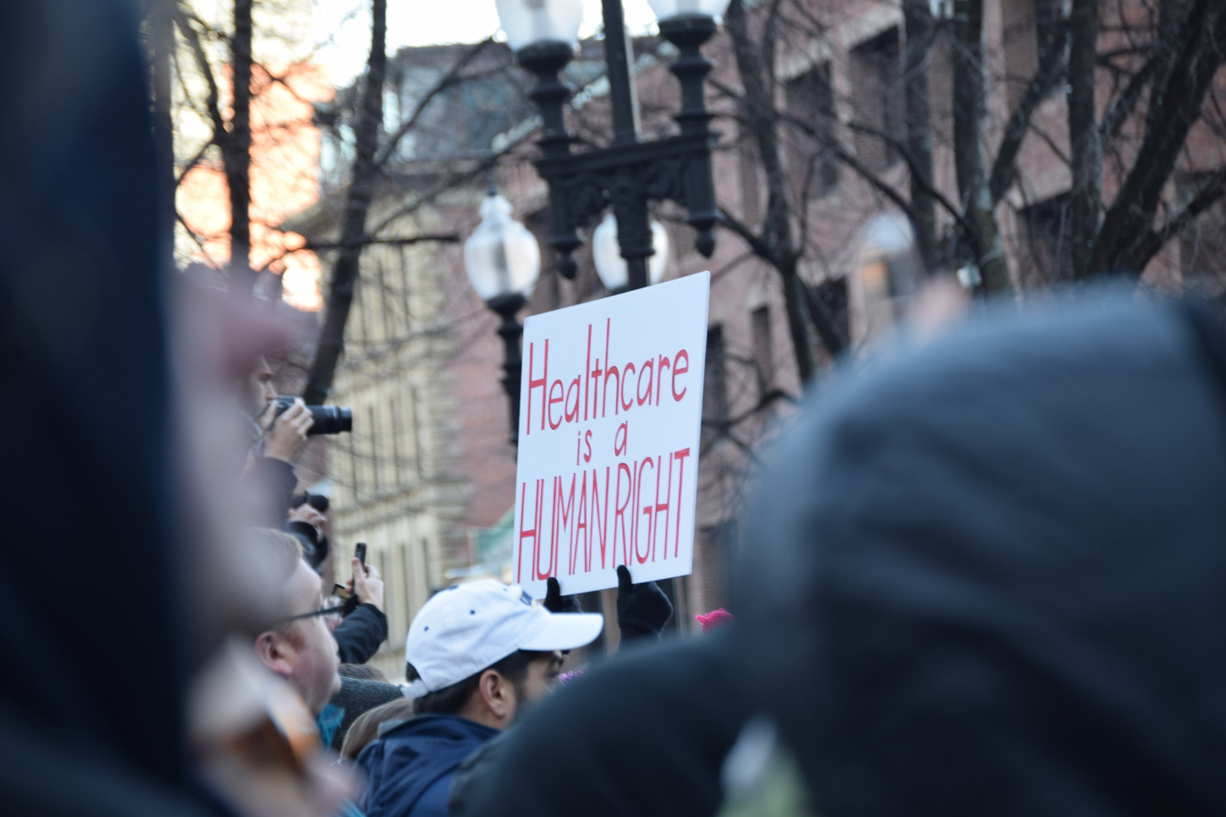 On Sunday, January 15th, 2017, an estimated six thousand people gathered in Boston's Faneuil Hall in defense of the Affordable Care Act as the Republicans in Congress and president-elect plan to remove President Obama's signature health care law.