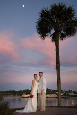 ....and the moon came out.  Christie and David are married!