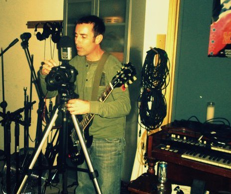 hard at work in the studio