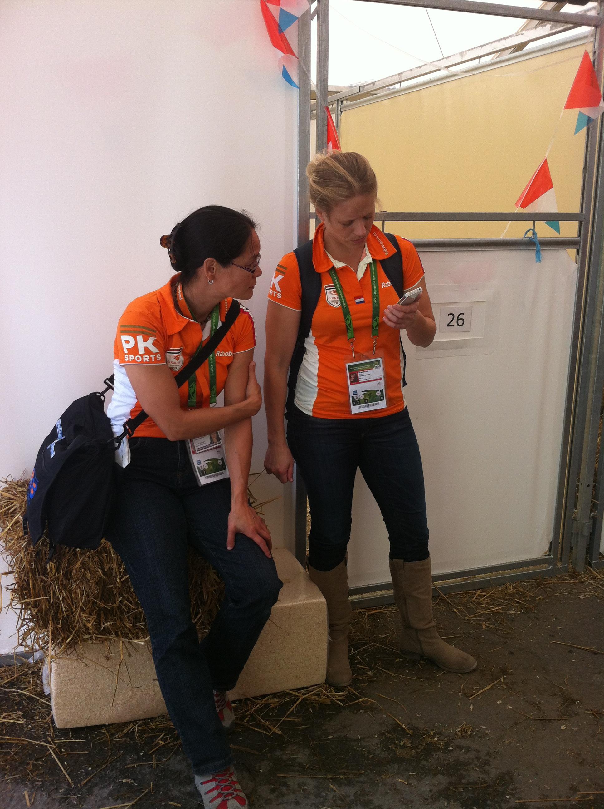 Dierenarts en bondscoach van het Nederlandse team
