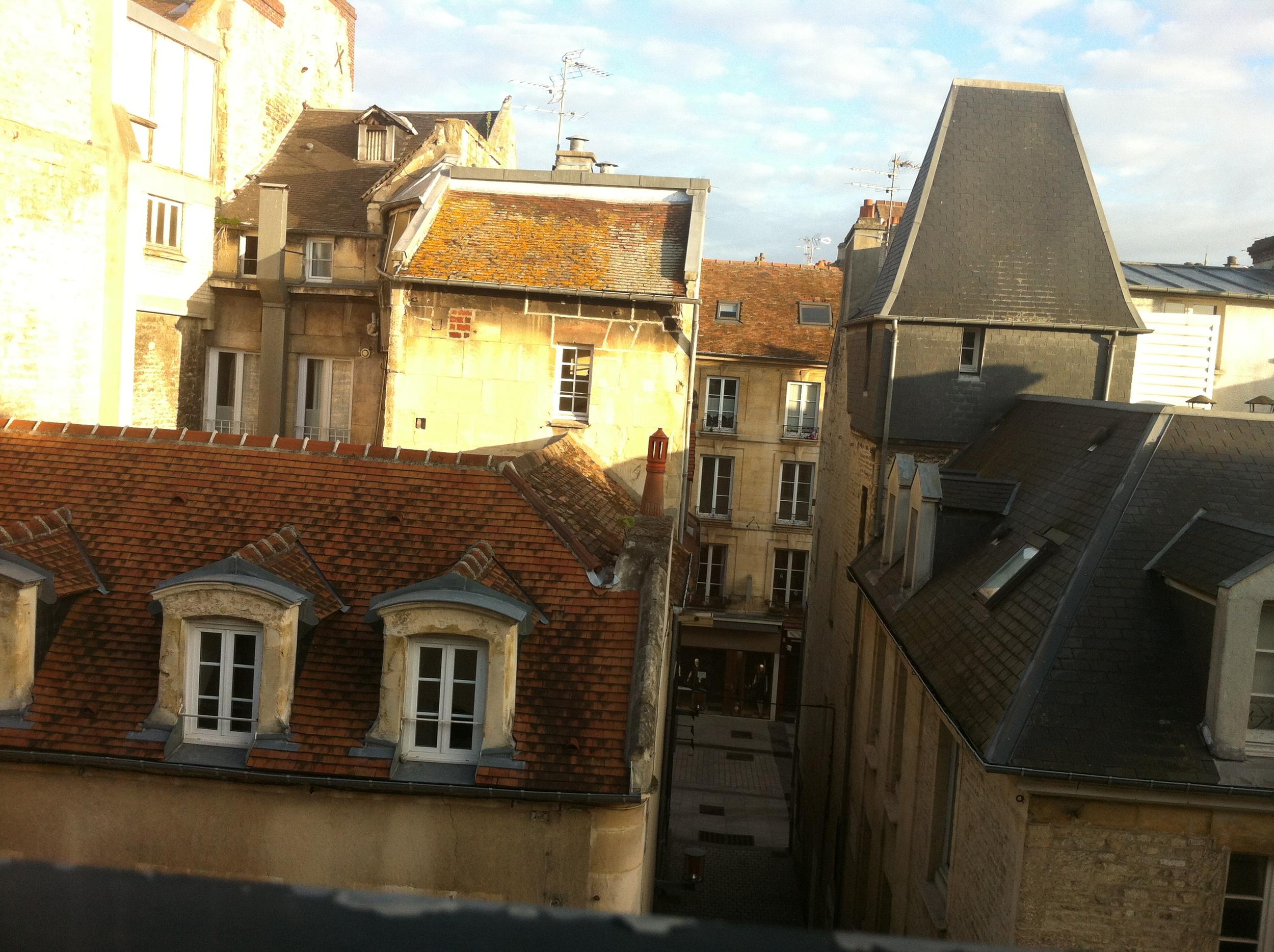 Uitzicht vanuit mijn hotel