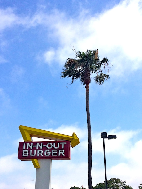 Where did we eat promptly after landing at LAX? You got it: the storied In-N-Out Burger.