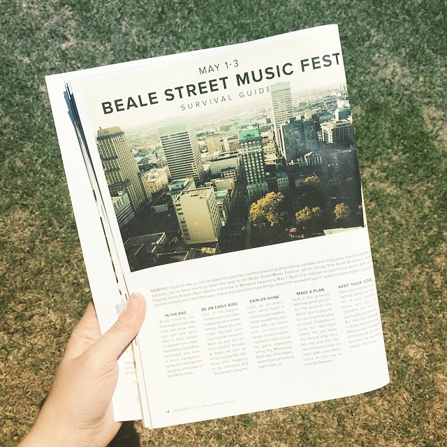 #BSMF - I wrote a handy-dandy guide to Beale Street Music Festival for the May issue of Arkansas Life. Will post a link once the magazine's Culturalist section is online, even though the festival will have come and gone by then.Update: Here's the link to Arkansas Life's May Culturalist!