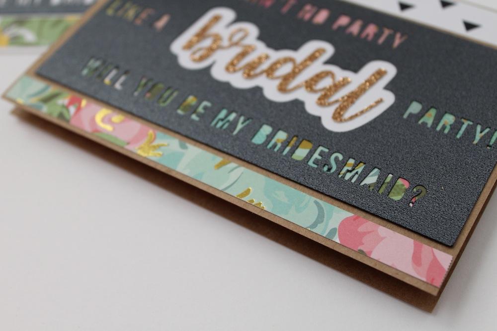 DIY bridesmaids card