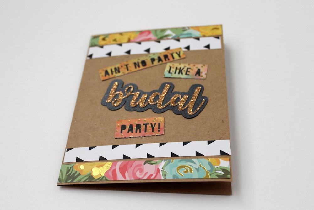 DIY bridal party card