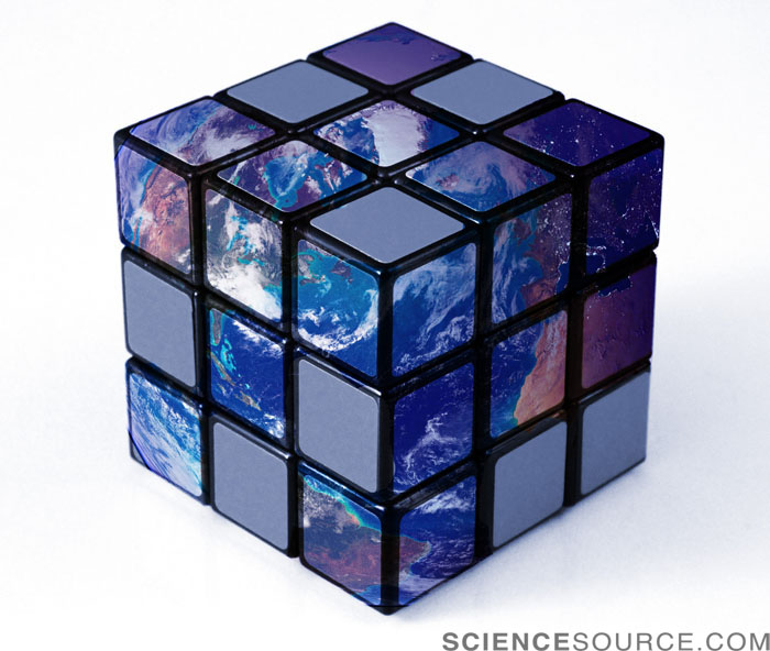 Earth as Rubik's Cube