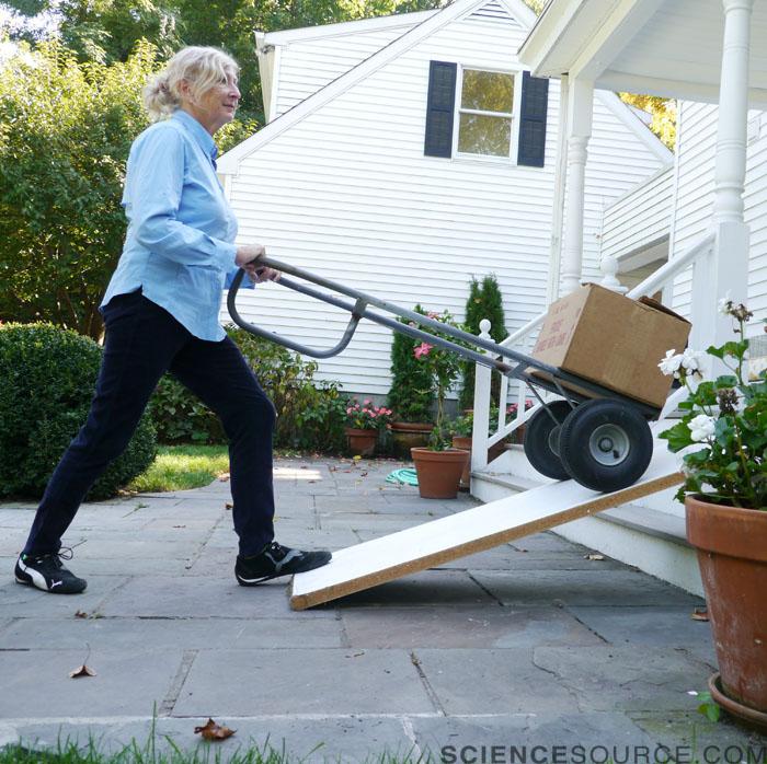 Senior Woman Moving