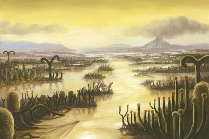 Devonian Period Landscape