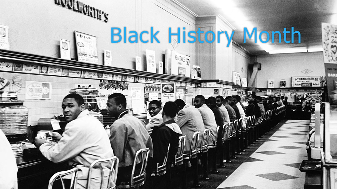 Feb 9, 1960, Black students sit-in at Woolworth's lunch counter. © Bruce Roberts/Science Source