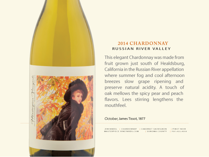 2014 MASTERPIECE VINEYARDS RUSSIAN RIVER VALLEY CHARDONNAY