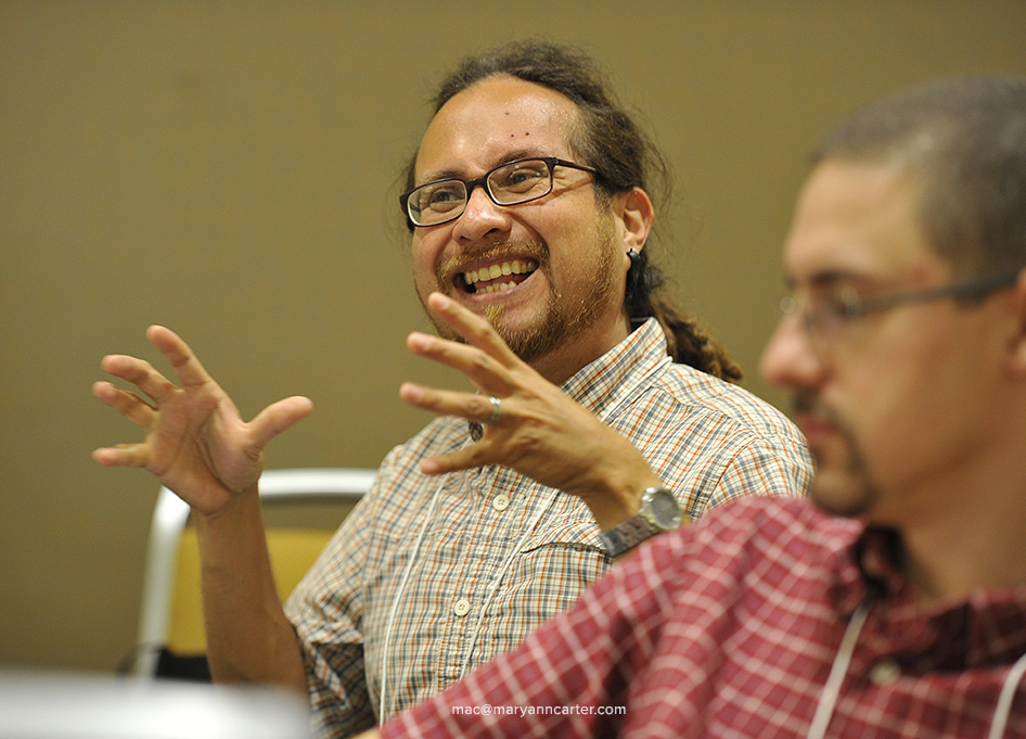 Alejandro Alfaro-Santiz of the Iowa District talks during the Congregational Development 101 seminar, at SCD in Indianapolis Thursday, August 13, 2015.