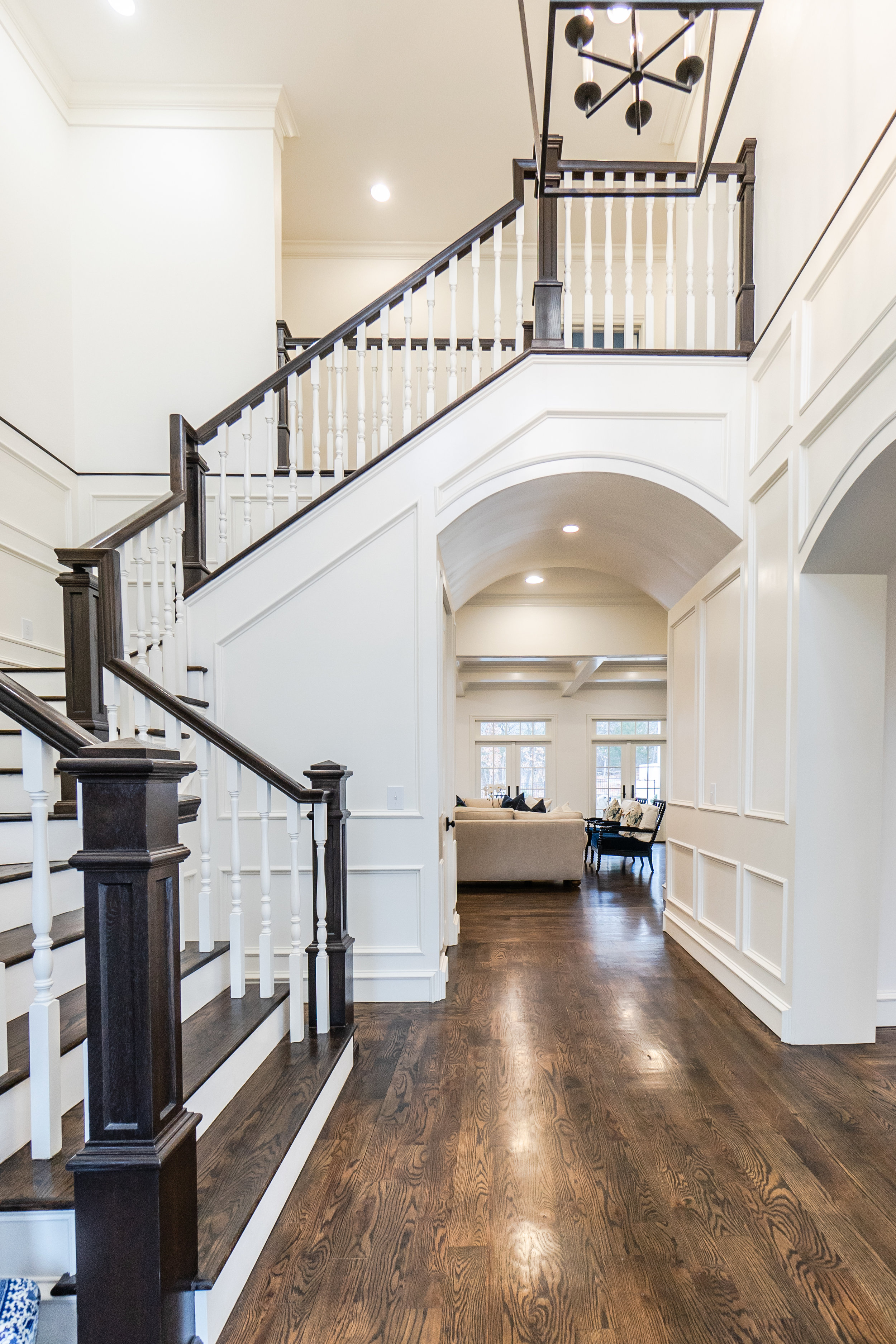 Exceptional two-story entry paneled to the second floor . . .  a GRAND entry!