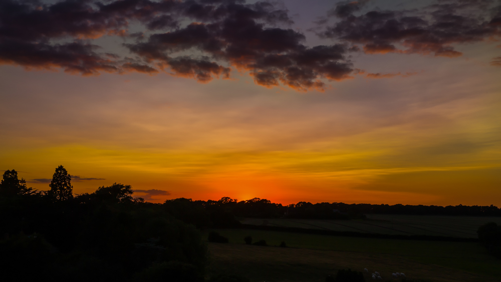 Sunset From Tower Of Monks Kirby Church