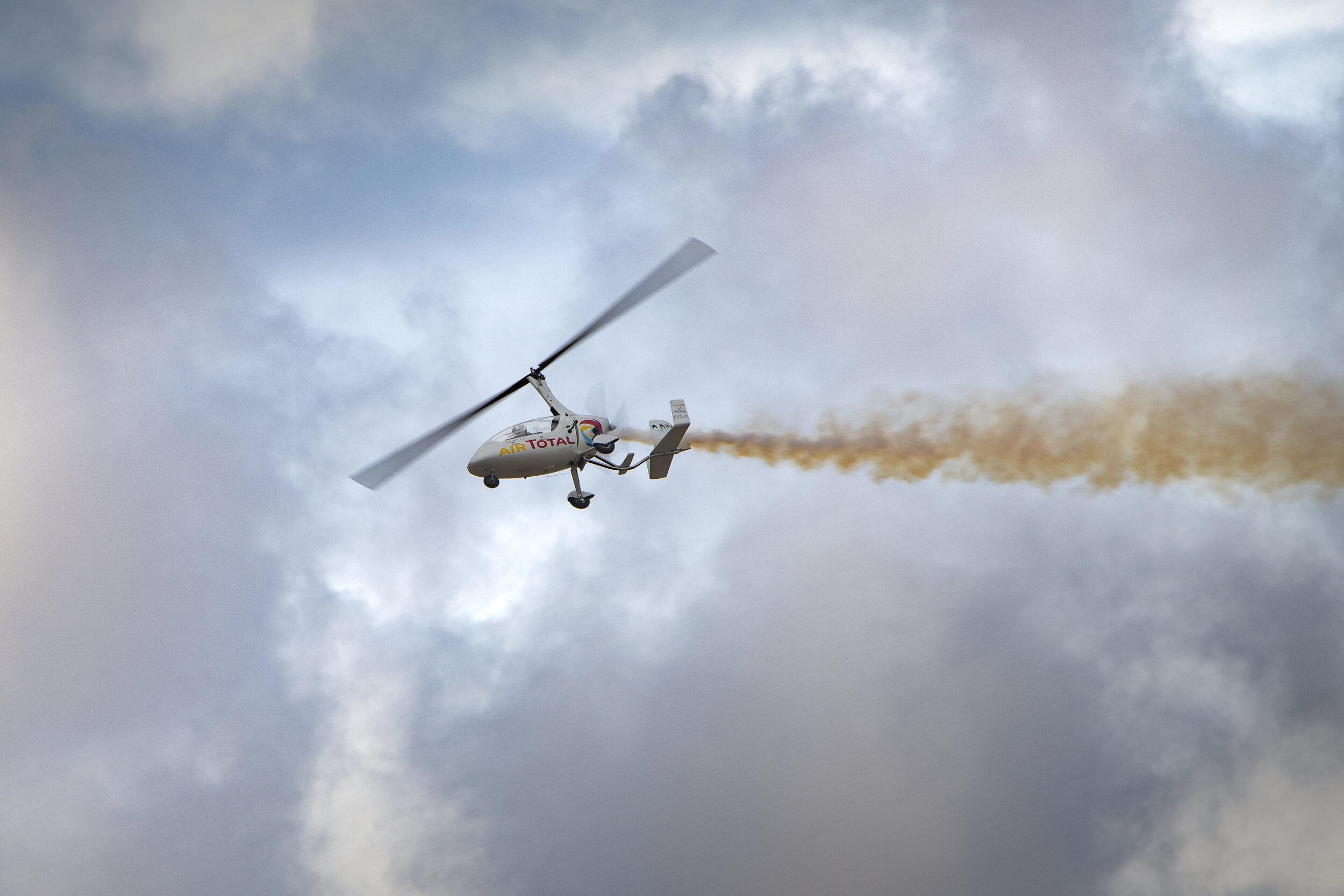 Autogyro in Flight