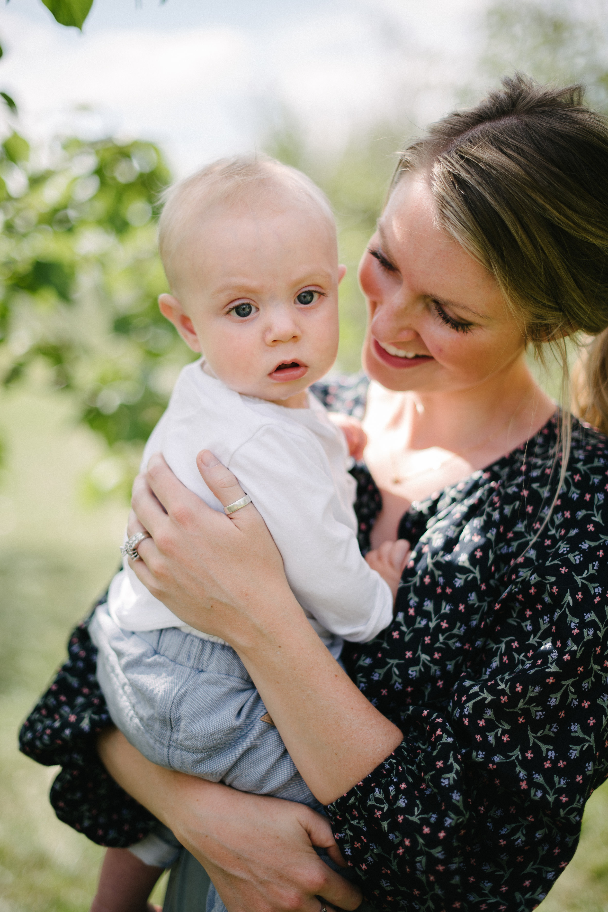 mother holding son, Fort Collins motherhood photography