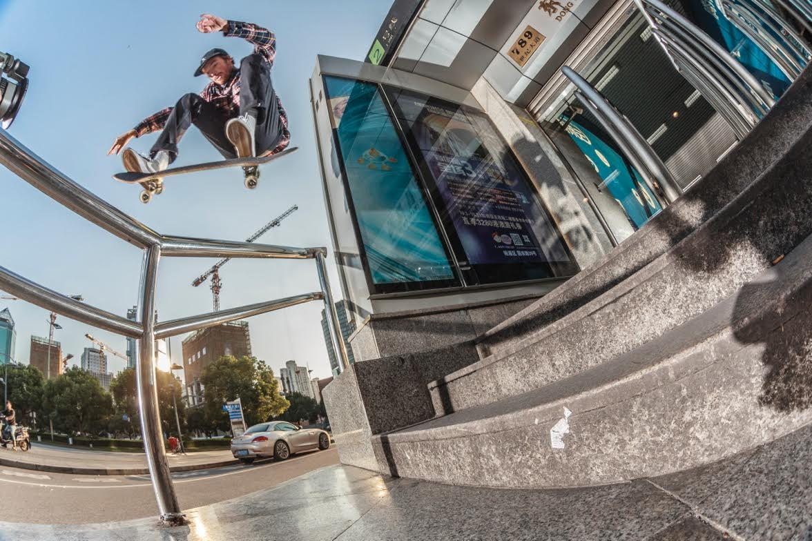 Kickflip in China / Photo by Florian Lanni