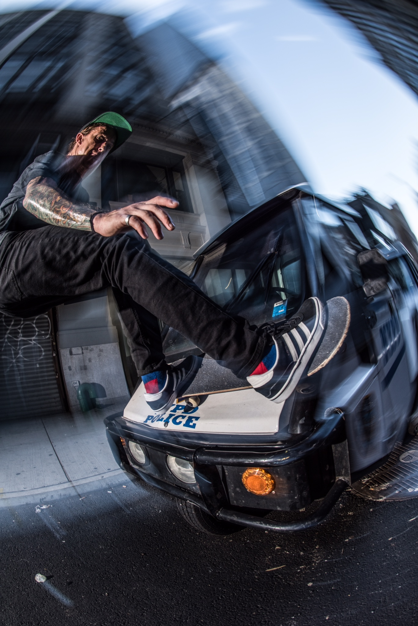 Chris Jata - Police buggy ride / Photo: J-Hon