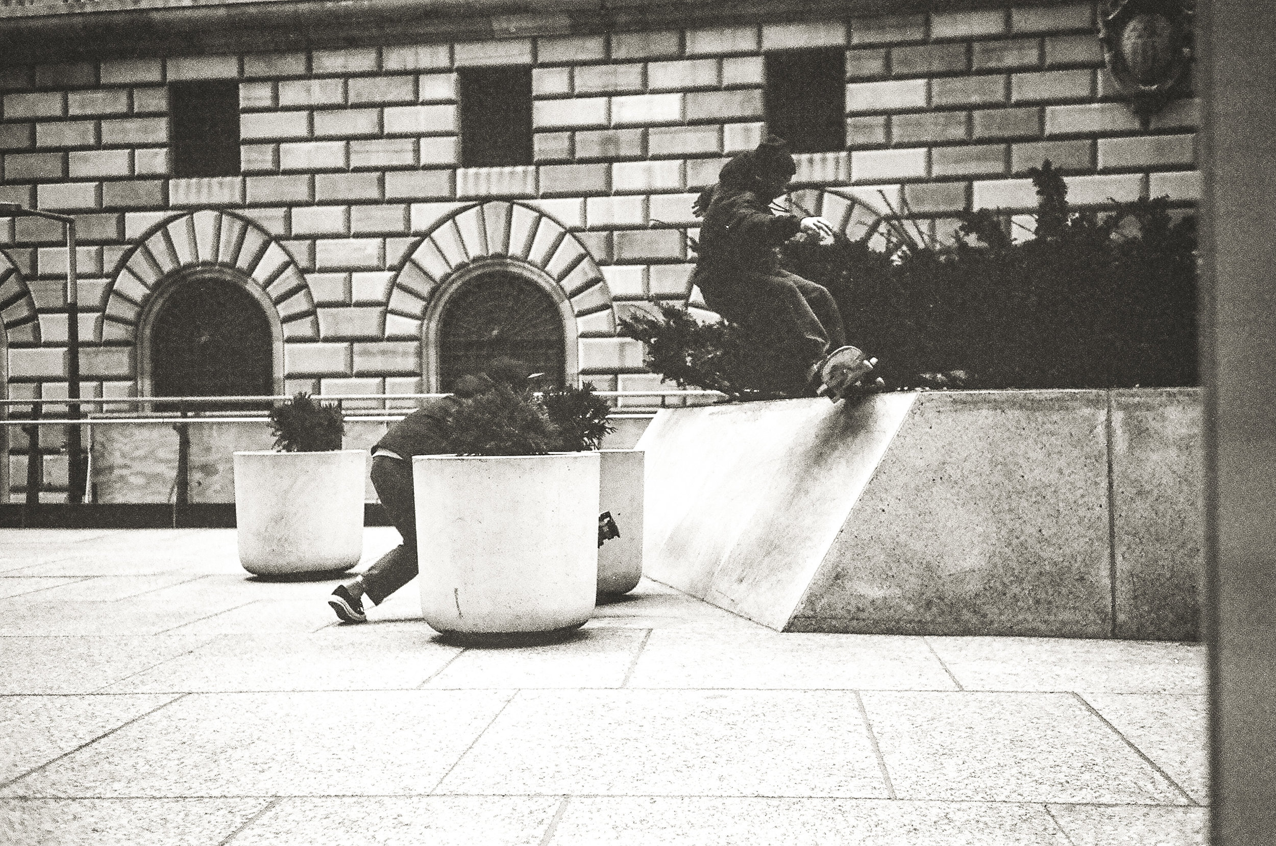 Frontside 5-0 at Chase Bank, lower Manhattan. Photo Pat Stiener