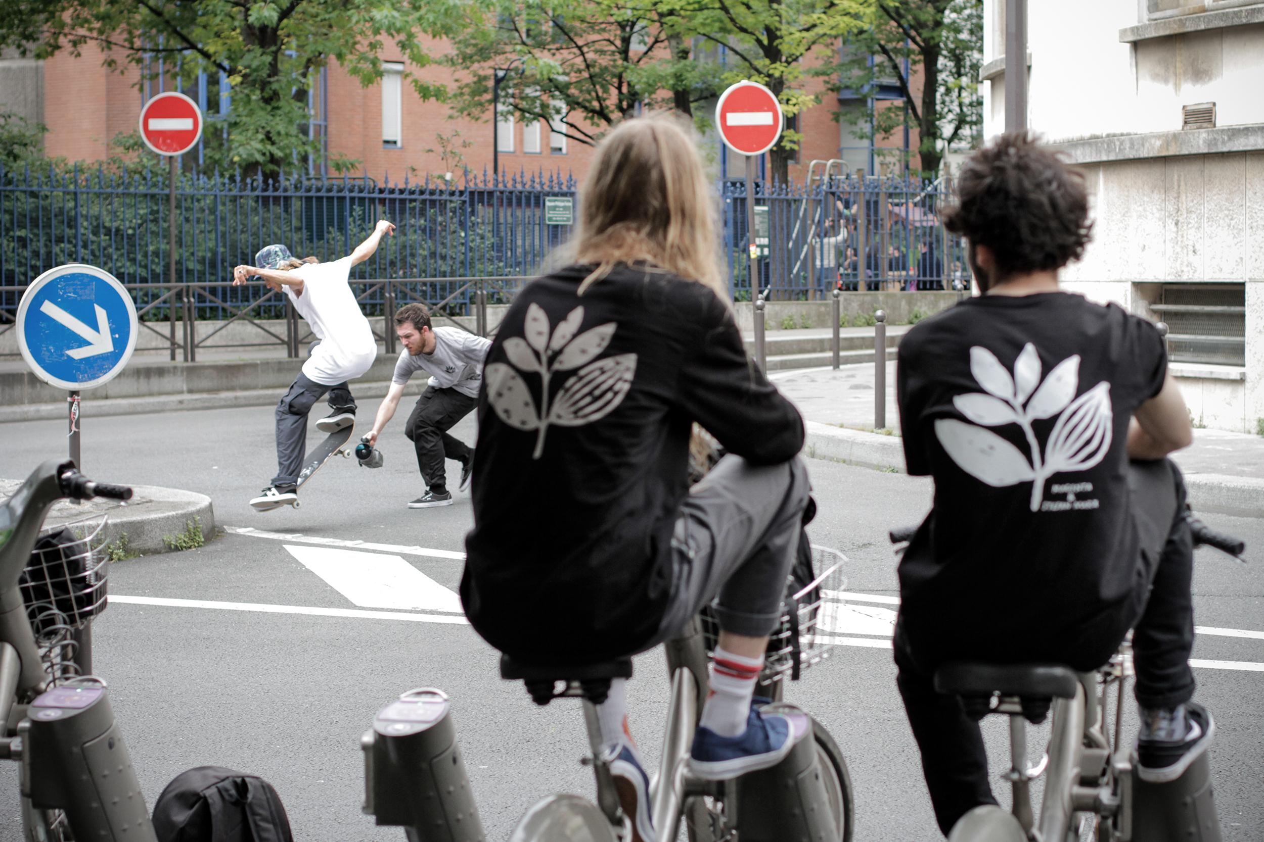 Josh films Jimmy Lannon in France. Photo by Gaetan Silvignol