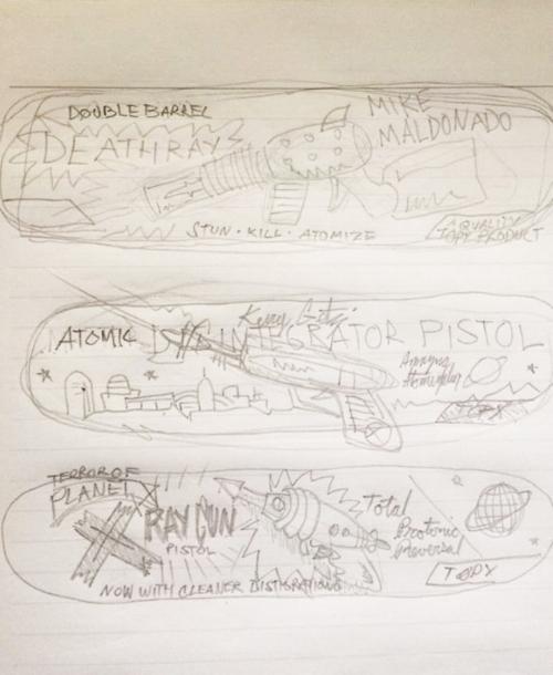 Original Sketches of Terror Graphics