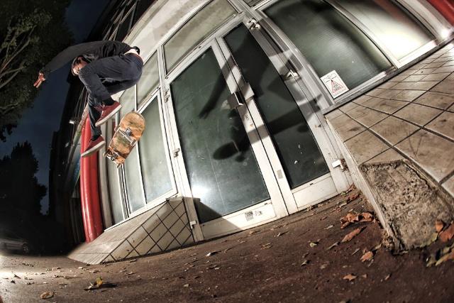 Heel Flip: Photo by Jean Feil