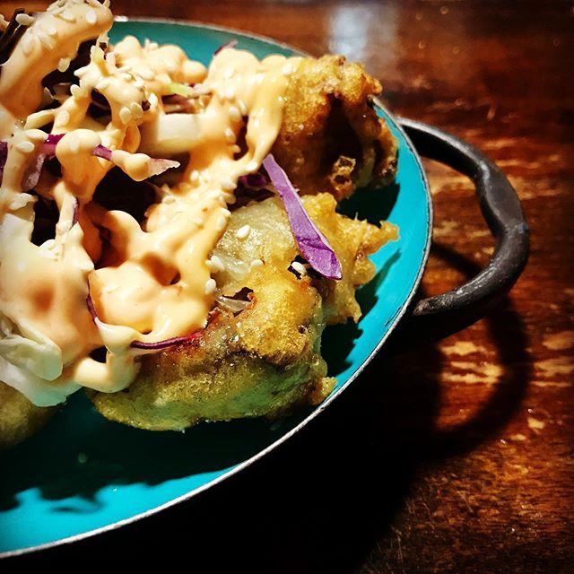 Korean fried eggplant on the Miami Spice menu! 🇬🇧🥂❤️🌶