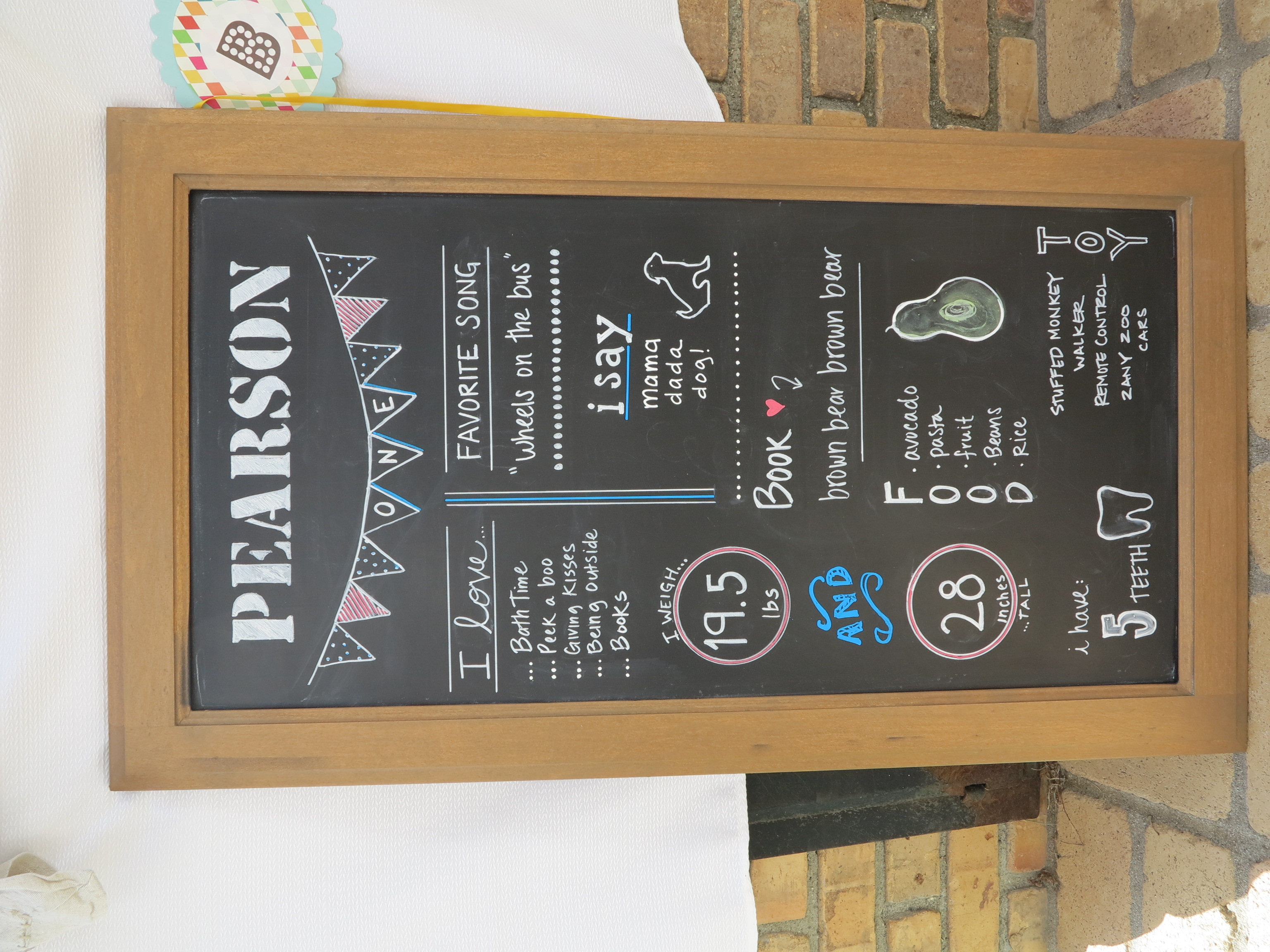 I loved the idea of these birthday chalkboards and couldn't resist creating one for PJ. It was fun for the guests to get to know the birthday boy better.