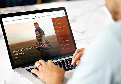 Regional Health | Website Redesign