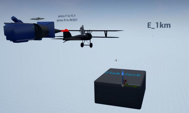 VR Camera + Plane + Distance Markers