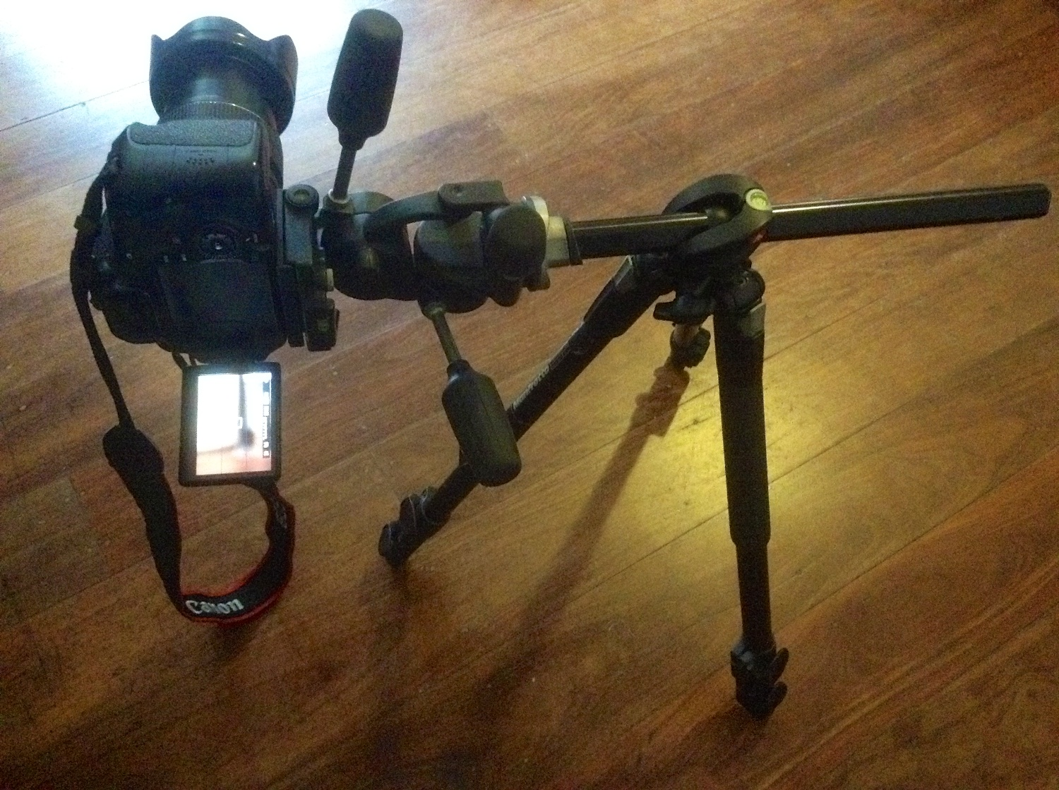 Manfrotto 190XPROB legs with horizontal centre column.