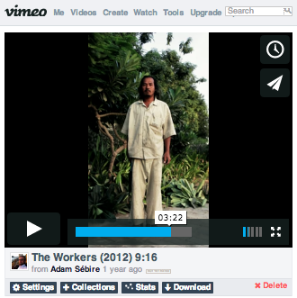What you'll see in Vimeo's own interface: pillarboxing.