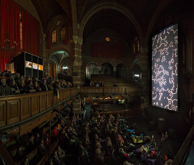 Vertical Cinema at IFFR (Rotterdam) 2014. Photo by Pieter Kers.  https://flic.kr/p/k3Q1bL