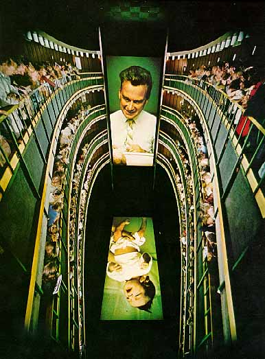 The dizzying     Labyrinth Project     at Montréal's Expo67.