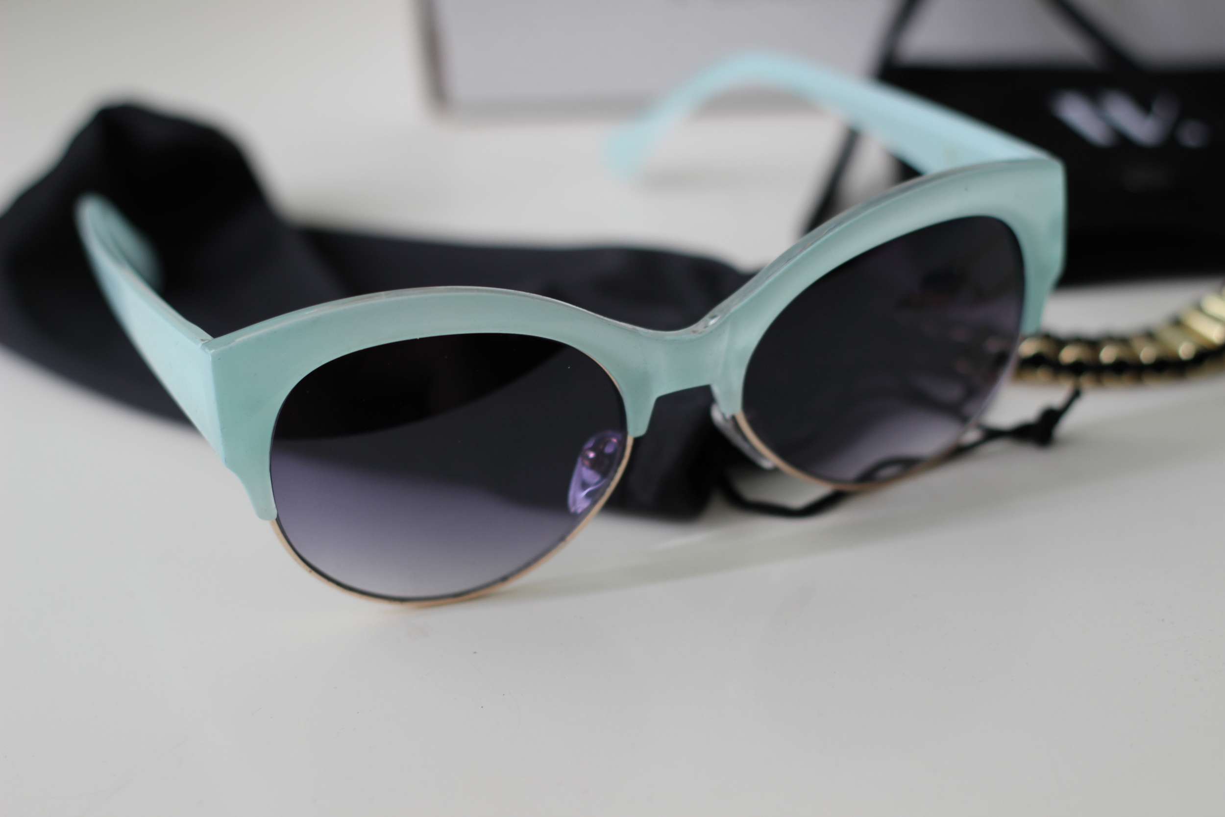 March Wantable Box- Zoey Sunglasses Gold. I am in LOVE with these! I would have never picked them out for myself but am so happy I have these! This is my favorite piece out of this box!