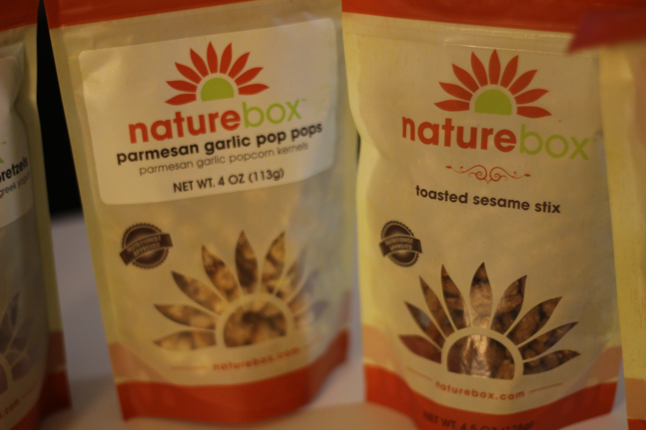Naturebox Parmesan Garlic Pop Pops and Toasted Sesame Stix