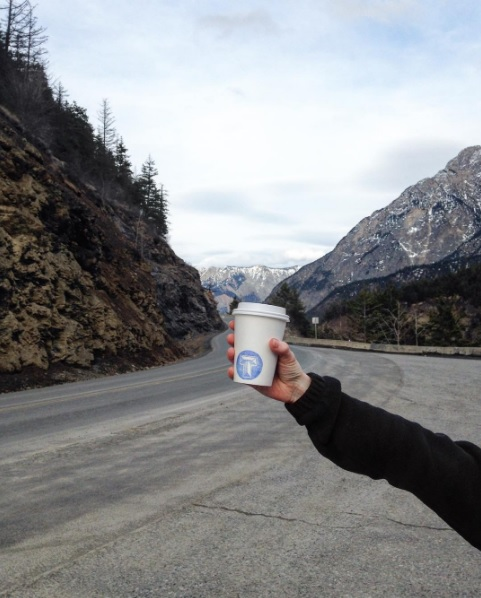Kara likes her #TriumphCoffee on the road.